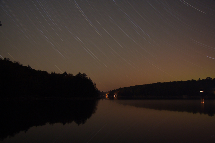 Star Trails at the Cottage